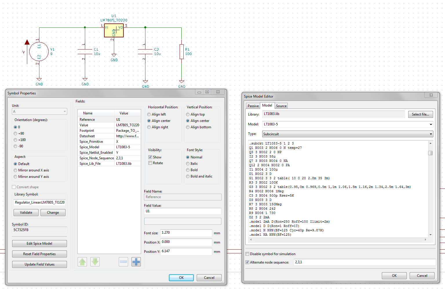 Simulations: PSpice, NgSpice and LTSpice - Simulation (Ngspice