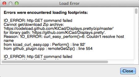 KiCad 4 0 7: CvPCB can't resolve host codeload github com