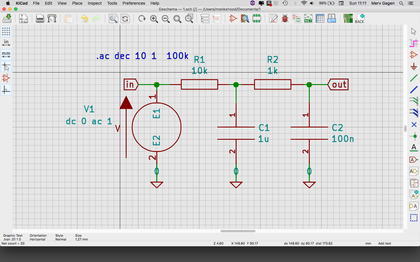 Having trouble simulating in KiCAD? - Simulation (Ngspice