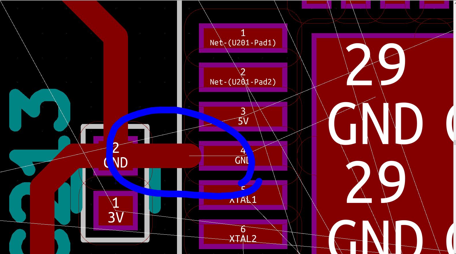 Can't connect pads & wires of the same type - Layout - KiCad